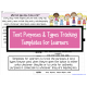 Text purposes and types tracking templates for learners