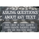 Asking Questions about Any Text