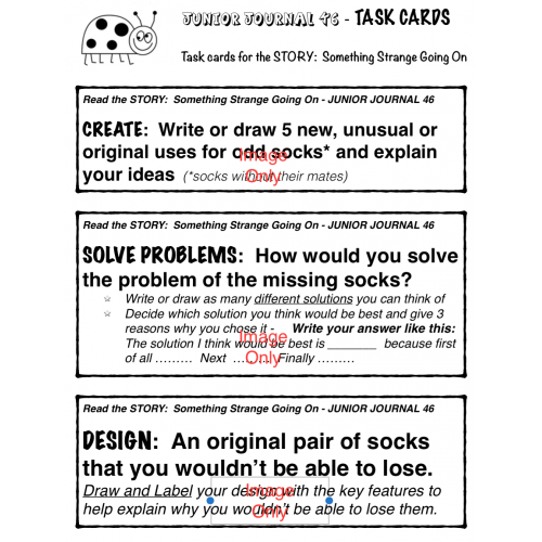 resources task cards for deep thinking and questioning